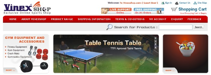 Online Sports Equipment Shop